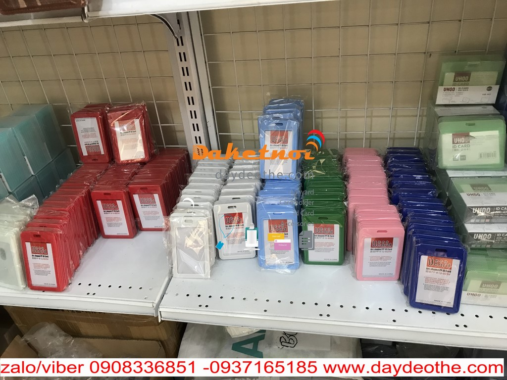 bao thẻ nhân viên 10 màu ucard uhoo hộp nhựa 1 mặt thẻ