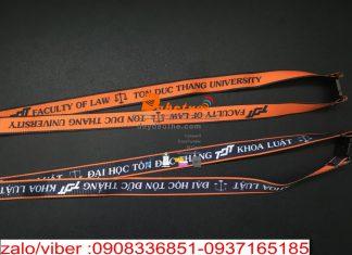 dây đeo thẻ sinh viên d0h tôn đức thắng khoa luật , in nhiệt chìm nylon 2 line